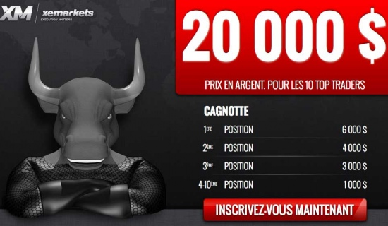 Concours de trading XeMarkets : 20 000 dollars à gagner
